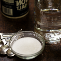 Salt-and-tap-water